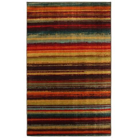 Mohawk Home New Wave Multicolor Boho Stripe Area Rug