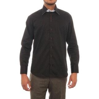 Cafebleu Rebel Cuff Sleeve Collared Button Down Men Regular Dress Button