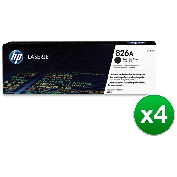 HP 826A Black Original LaserJet Toner Cartridge (CF310A)(4-Pack)