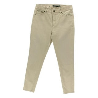 Lauren Ralph Lauren Womens Petites Skinny Jeans Denim Slimming Fit