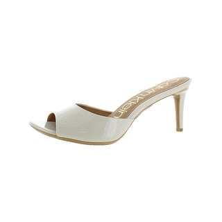Calvin Klein Womens LUC Mules Open Toe Padded
