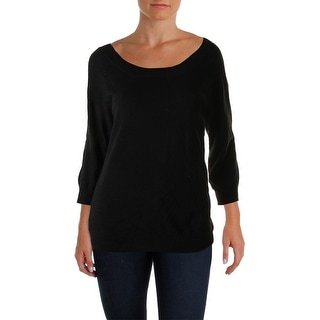 Sutton Studio Womens Sweater 3/4 Sleeves Casual