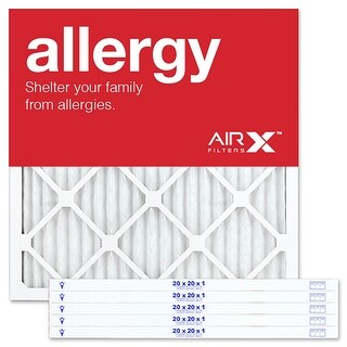 Replacement Air Filter 20x20x1 MERV 11 Comparable to Filtrete Allergen Defense MPR 1000 1085 1200, Odor Reduction MPR 1200, 6Pk