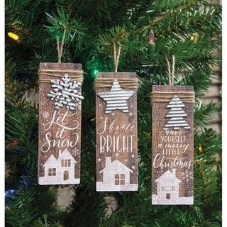 Link to Farmhouse Christmas Charm Ornament 3 Asstd. Similar Items in Christmas Decorations