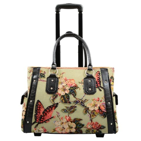 Butterfly Tapestry Rolling Laptop Carrier