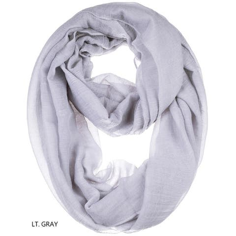 Womens sheer lightweight infinity scarf