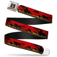 Lion King Paw Full Color Black Gold Mufasa & Simba Just Can't Wait To Be Seatbelt Belt