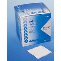 "Gauze - 3"" x 3"" Pads (Box of 100)"