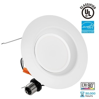 1/4/12 PACK Wet Location 5/6inch Dimmable Retrofit LED Recessed Downlight,3000K/4000K/5000K