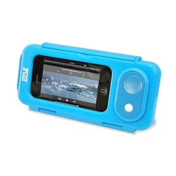 Surf Sound PLAY Universal Waterproof iPod, iPhone4 & iPhone5 MP3 Player Case & Smartphone Portable Speaker (Blue Color)