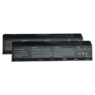 Battery for Toshiba PA5023U-1BRS (2-Pack) Laptop Battery
