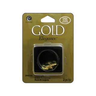 Cousin 14K Gold Plate Elegance Lobster Claw 2pc