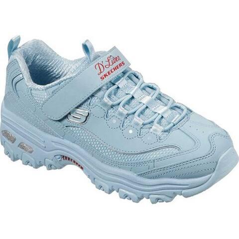 Skechers Girls' D'Lites Color Kicks Sneaker Light Blue