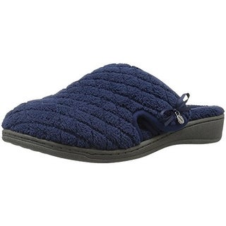 Vionic Womens Adilyn Terry Quilted Clog Slippers