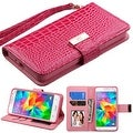 Insten Stand Folio Flip Crocodile Skin Leather Wallet Flap Pouch Case Cover For Samsung Galaxy Grand Prime - Thumbnail 0