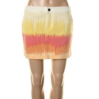 Tibi Womens Printed Mini Pencil Skirt
