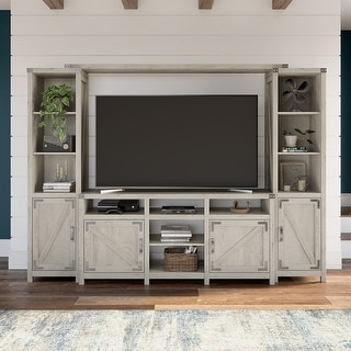 Bush Furniture Cottage Grove 65W Farmhouse TV Stand with Shelves