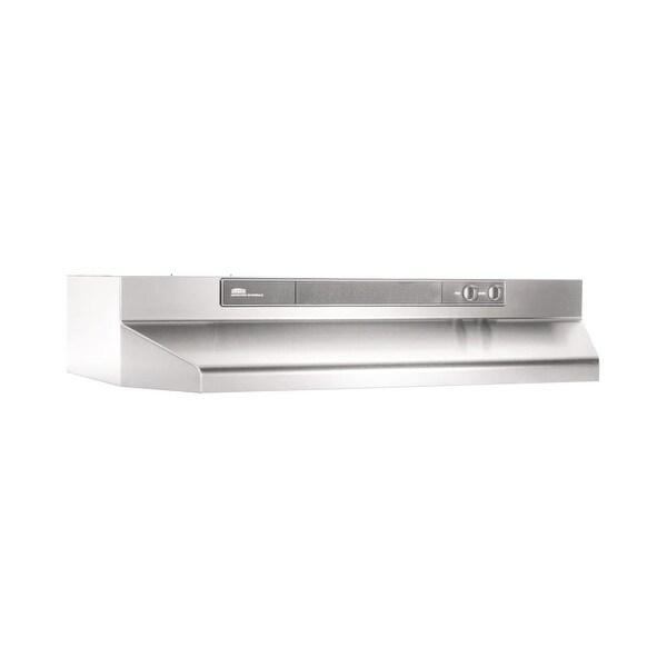 Broan 4624 220 Cfm 24 Wide Steel Under Cabinet Range Hood With Backdraft Damper