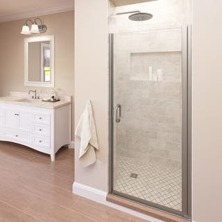 """Basco A0071-1CL Infinity 72"""" High x 28"""" Wide Hinged Framed Shower Door with Clear Glass