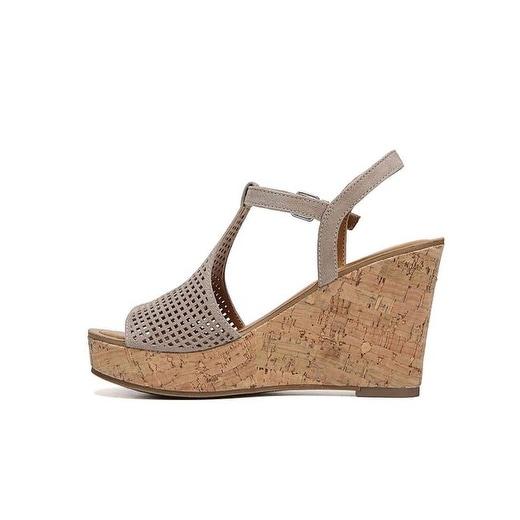 Franco Sarto Womens clinton2 Fabric Open Toe Casual Platform Sandals - 7