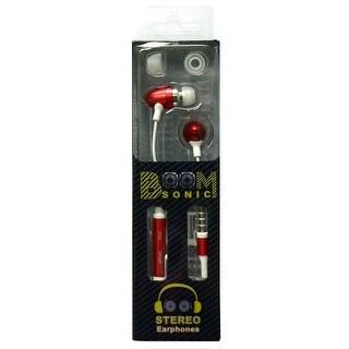BoomSonic 3.5mm Stereo Earphones, Red