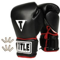 Title Boxing Power Weighted Super Bag Gloves - Black