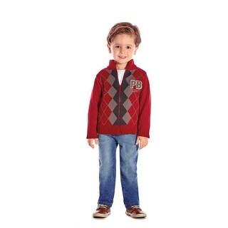 Toddler Boy Sweater Little Boys Zip-Up Jacket Winter Pulla Bulla 1-3 Years