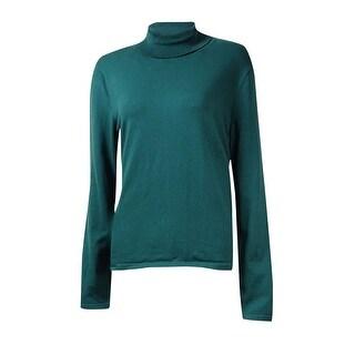 Jones New York Women's Classic Solid Turtleneck Sweater