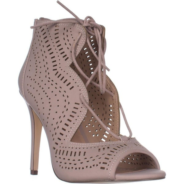 Call It Spring Asoniel Peep-Toe Lace-Up Sandals, Light Pink