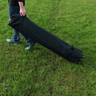 Sunnydaze Quick-Up Rolling Canopy Storage Bag - Fits 8-Foot and 10-Foot Canopies