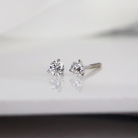 Ethical Sparkle 1/4ctw Lab Grown Diamond Stud Earrings 14k Gold Martini-set