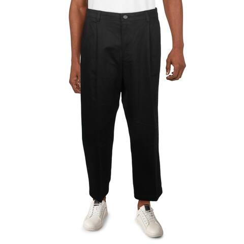 Dockers Mens Dress Pants Woven Pleated - Black