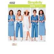 20W - 28W - Simplicity Misses'/Women's Skirt; Croppe
