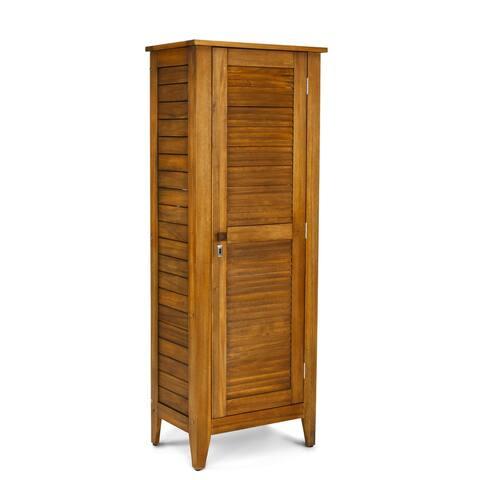 Maho Outdoor Golden Teak Single Door Storage Cabinet