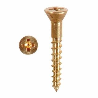 Solid Brass Philips Flat Head Wood Screw # 10 1.25 Qty 25 Renovator's Supply