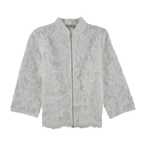 Kasper Womens Lace Jacket, White, 16