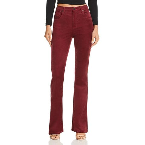 Blank NYC Womens Corduroy Pants High-Rise Flare