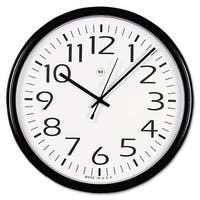 Universal Office Products 11641 Round Wall Clock - Black, 12 in.