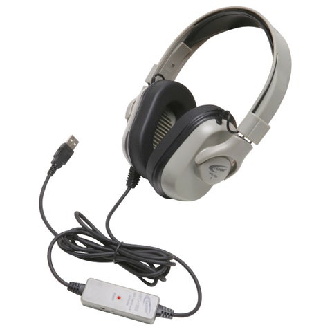 Califone HPK-1000 Titanium Series Headphones with Guaranteed for Life USB Cord