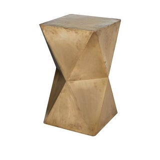 """Dimond Home 985-042 Faceted 24""""H X 14""""W Stool With Brass Cladding - GOLD"""