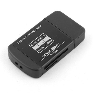 USB 2.0 All in One Multi Memory Card Reader Black for Micro SD MMC T-Flash MS