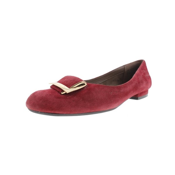 Aerosoles Womens Good Times Loafers Suede Flats