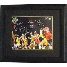 8374d29e0a6b Shop Bobby Jones signed Philadelphia 76ers 16x20 Photo Custom Framed 1983  NBA Champions w 6 Signatures v - Free Shipping Today - Overstock - 19867933