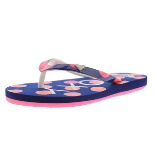 Roxy RG Pebbles V Toddler Girls Polka Dot Flip Flops - 11/12