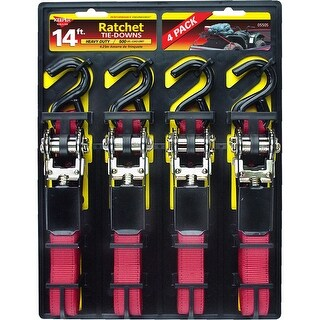 """Keeper 05505 Ratchet Tie-Down 14'x1"""", Red"""