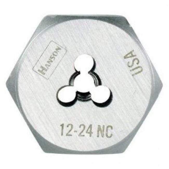 Irwin Tools 9332ZR Hanson Hexagon Machine Screw Die, 12 - 24 NC