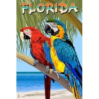 FL - Parrots - LP Artwork (100% Cotton Towel Absorbent)