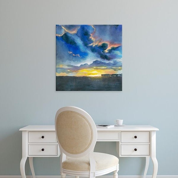 Easy Art Prints Grace Popp's 'Vivid Sunset I' Premium Canvas Art