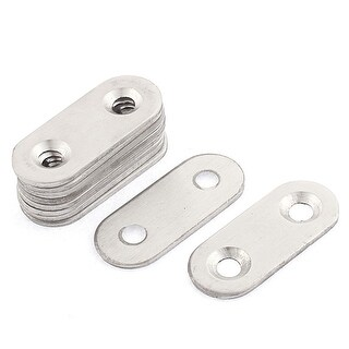 Flat Mending Repair Plate Bracket Corner Brace 38mm x 15mm 10PCS