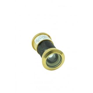 Door Peephole Viewer Brass 160 degree 1 1/8 to 2 1/16 Adjustable Length